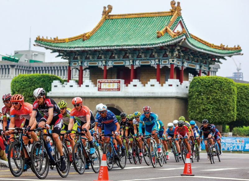 9b672de12 The first stage of the 2015 Tour de Taiwan took riders through downtown  Taipei. The cyclists passed by a number of landmarks