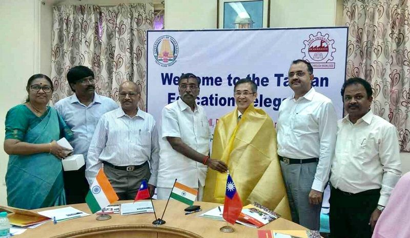 Dr. Leehter Yao, Deputy Minister of Education of Taiwan calls on Minister of Higher Education of Tamil Nadu Thiru K. P. Anbalagan Photos - New Southbound Policy