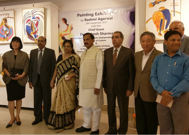 Amb. Tien invited to opening ceremony for Indian artist's painting exhibition Photos - New Southbound Policy