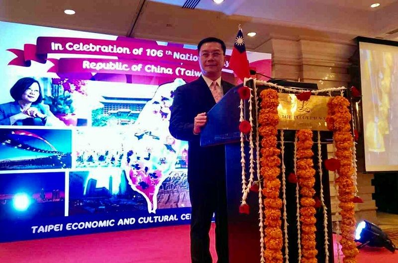 Taipei Economic and Cultural Center in Chennai celebrates the 106th National Day of the Republic of China at Leela Palace Hotel in Chennai on 6th Oct 2017. Photos - New Southbound Policy