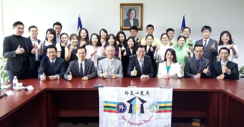 16th R.O.C Delegation of Teen Diplomatic Envoys Visits Singapore Photos - New Southbound Policy