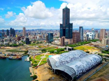 New Southbound Policy。Kaohsiung City in southern Taiwan is set to host an SME O2O summit later this year as part of the country's efforts to foster regional growth through APEC. (Courtesy of Kaohsiung Exhibition Center)