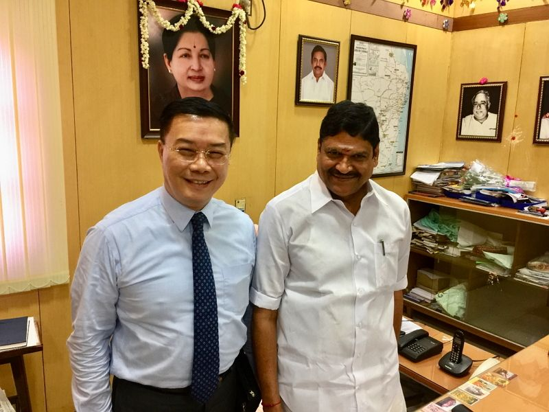 To implement the New Southbound Policy, Director General Charles Li called on Hon. M.C. Sampath, Minister of Industries, to discuss the participation for GLOBAL INVESTORS MEET 2019  Photos - New Southbound Policy