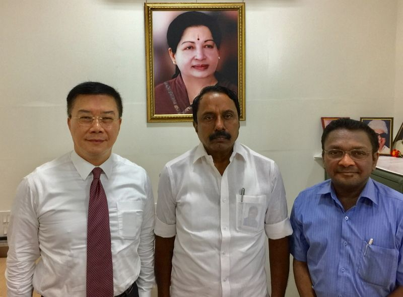Director-General Charles Li called on Minister for School Education, Tamil Nadu Government, K. A. Sengottaiyan to discuss about the ideas of partnership with The Anna Centenary Library, Chennai Photos - New Southbound Policy