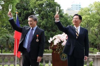 AIT Director Moy awarded MOFA's Grand Medal of Diplomacy