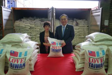 Taiwan donates 1,000 metric tons of rice to Guatemala for disaster relief