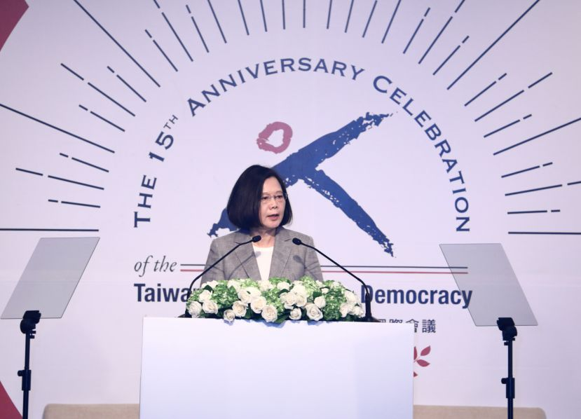 Tsai lauds Taiwan's democracy, calls for like-minded countries to defend shared values[open another page]