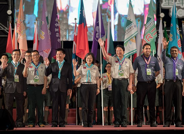 President Tsai opens National Scout Jamboree in Taichung Photos - New Southbound Policy