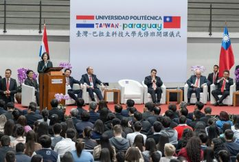 President Tsai touches down in ally Paraguay