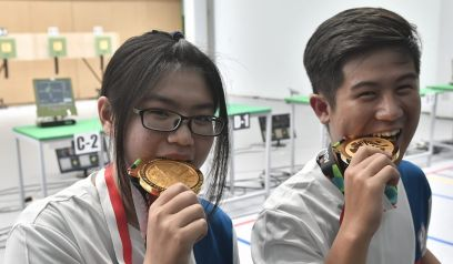 Taiwan shooting team wins gold at Asian Games in Indonesia