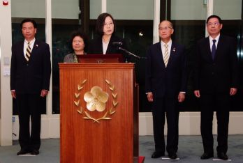 Tsai touches down in Taiwan, touts success of Paraguay, Belize state visit