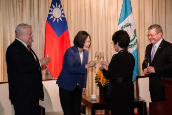 Tsai celebrates Central American Independence Day, vows closer ties with Guatemala, Honduras, Nicaragua