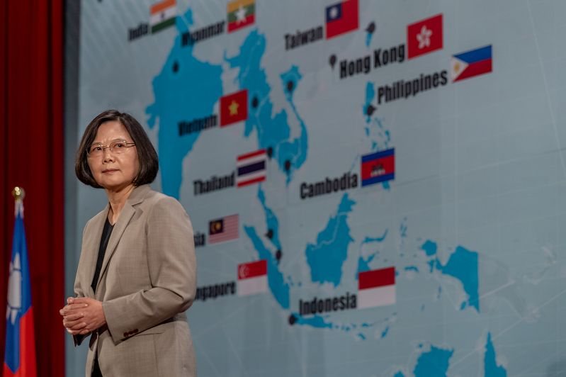 New Southbound Policy。President Tsai Ing-wen is advocating greater cooperation among academics and experts from regional think tanks as a way of addressing challenges to freedom, democracy and rules-based order in the Indo-Pacific. (CNA)