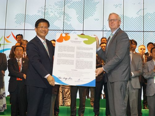Flora expo opens in Taichung with declaration for sustainability Photos - New Southbound Policy