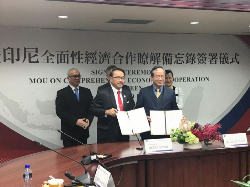 Economic cooperation agreement signed by Taiwan, Indonesia Photos - New Southbound Policy