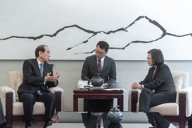 President Tsai meets delegation led by Japan-Taiwan Exchange Association Chairman Mitsuo Ohashi Photos - New Southbound Policy