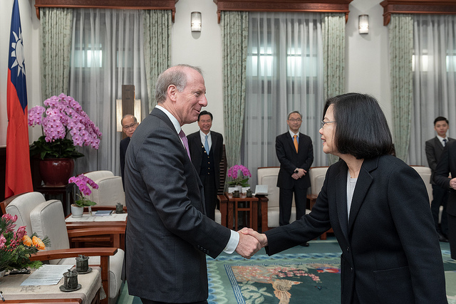 President Tsai meets Richard Haass, President of US Council on Foreign Relations Photos - New Southbound Policy