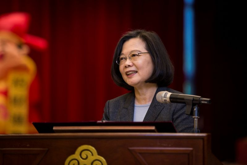 Tsai supports call for virtuous politics in pope's World Day
