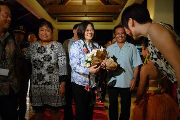 Tsai arrives in Palau on Oceans of Democracy 2019 Presidential Visit