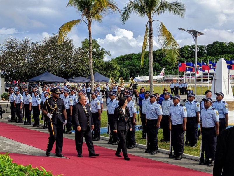 President Tsai visits Nauru on Oceans of Democracy state trip[open another page]
