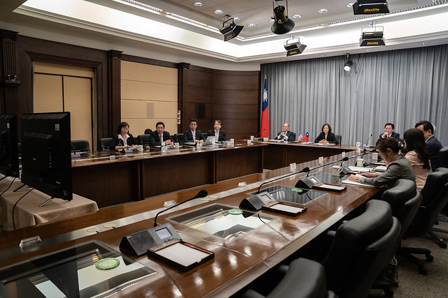 President Tsai attends videoconference with US think tanks held at CSIS Photos - New Southbound Policy