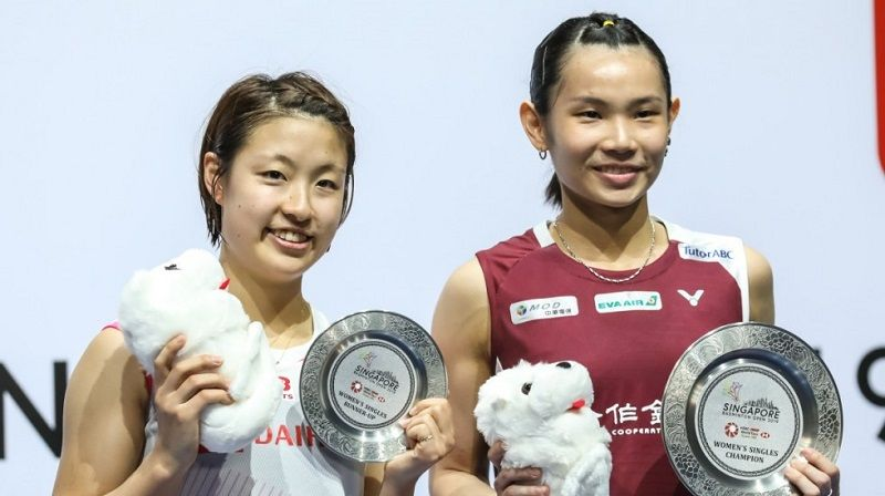 Badminton world No. 1 Tai wins Singapore Open women's singles Photos - New Southbound Policy