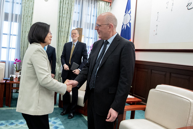 President Tsai meets David Meale, US Deputy Assistant Secretary of State for Trade Policy and Negotiations Photos - New Southbound Policy