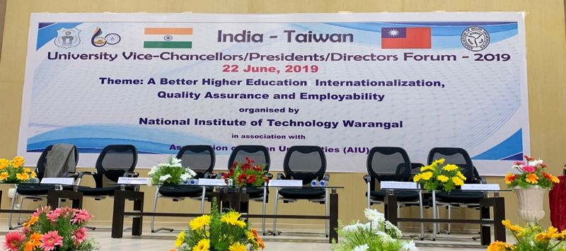 The 2019 India-Taiwan University Vice-Chancellors/Presidents/Directors Forum was held at the NIT-Warangal, Telangana on June 22, 2019 Photos - New Southbound Policy