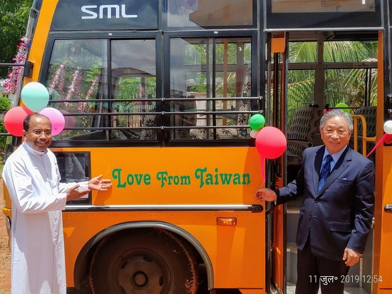 Taiwan funds new school bus at Catholic school in AP Photos - New Southbound Policy