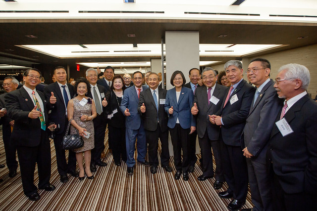 President Tsai attends reception with US Congressmen Photos - New Southbound Policy