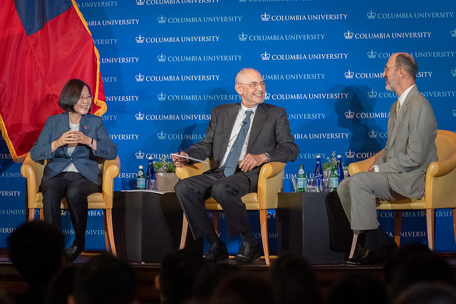 President Tsai attends discussion session at Columbia University Photos - New Southbound Policy