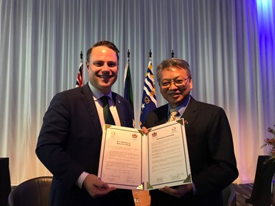 Taichung and Brisbane Signs MOU on International Exchange to Strengthen Diverse Interactions Photos - New Southbound Policy