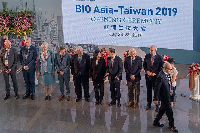 President Tsai attends opening ceremony for 2019 BIO Asia-Taiwan Conference and Exhibition Photos - New Southbound Policy