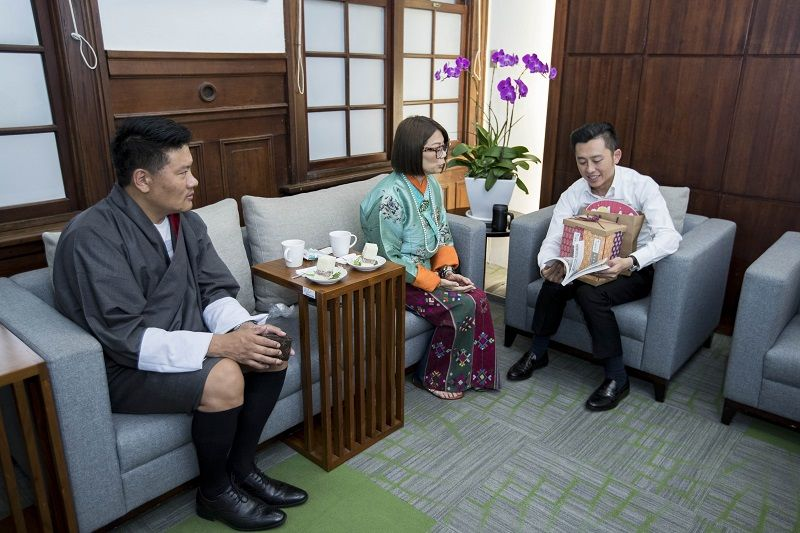 A Meeting of Happy Country and Happy City Mayor Lin Chih-chien Talked about Happiness with Bhutanese Couple Photos - New Southbound Policy