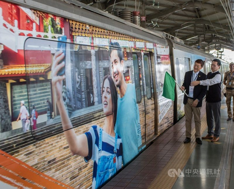 Mumbai train to promote Taiwan tourism Photos - New Southbound Policy