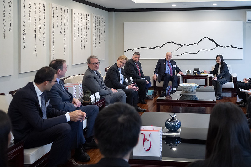 President Tsai meets Woodrow Wilson International Center for Scholars delegation Photos - New Southbound Policy