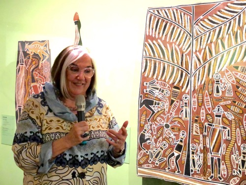 Australian Aboriginal bark art exhibition opens in Taipei Photos - New Southbound Policy