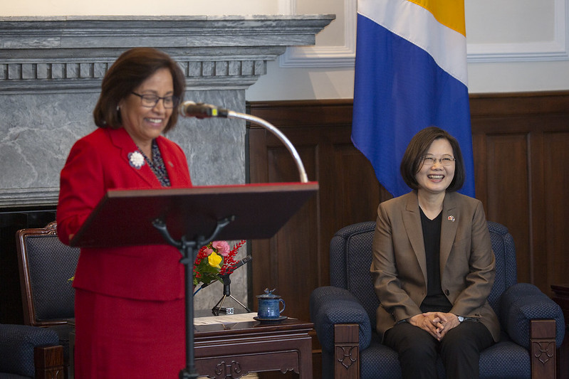 President Tsai meets Marshall Islands President Hilda C. Heine, witnesses signing of bilateral economic cooperation agreement Photos - New Southbound Policy