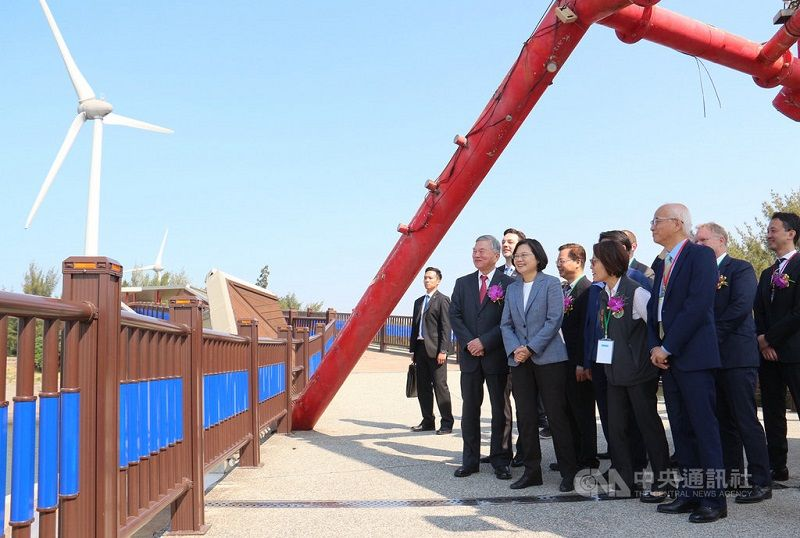 President Tsai attends inauguration of Formosa 1 offshore wind farm Photos - New Southbound Policy