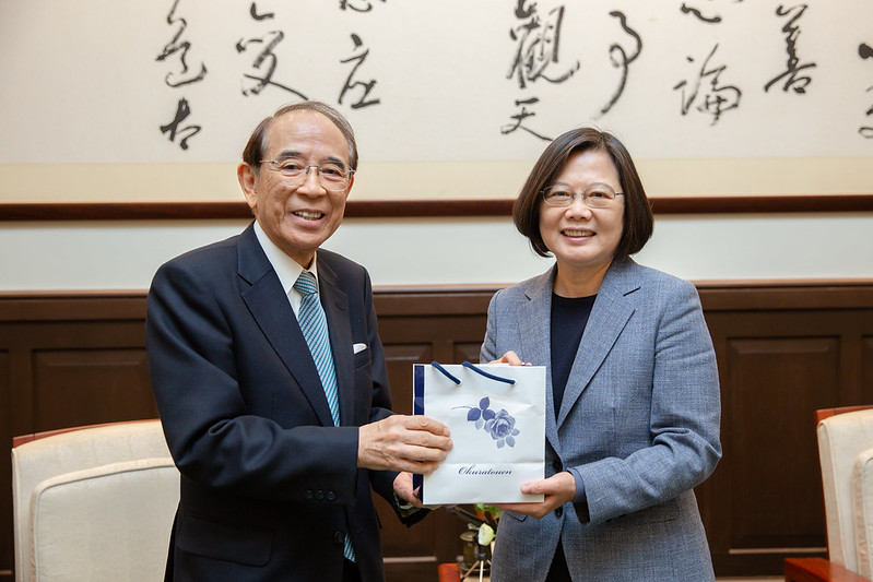 President Tsai meets Japan-Taiwan Exchange Association Chairman Mitsuo Ohashi Photos - New Southbound Policy