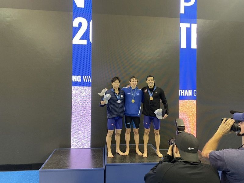 Taiwanese swimmer wins silver medal at U.S. Open Championships Photos - New Southbound Policy