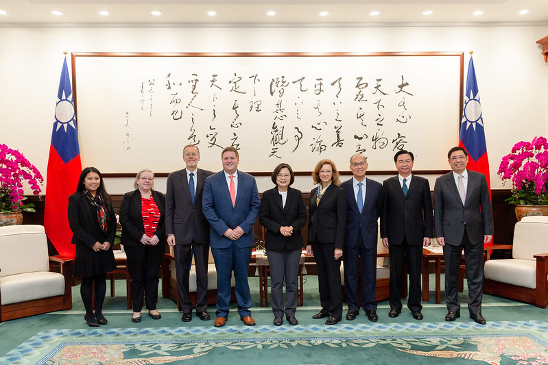 President Tsai meets US Assistant Secretary for Global Markets Ian Steff Photos - New Southbound Policy