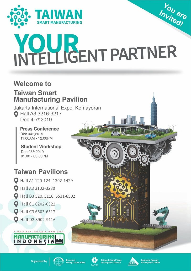 Taiwan Smart Manufacturing for a Better Indonesian Manufacturing Future Student Workshop at Manufacturing Indonesia 2019 Photos - New Southbound Policy