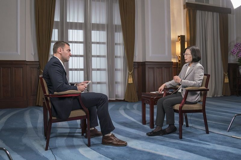 President Tsai is interviewed by Time magazine Photos - New Southbound Policy