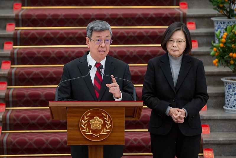 President Tsai issues remarks regarding the coronavirus outbreak and responds to questions from the media Photos - New Southbound Policy