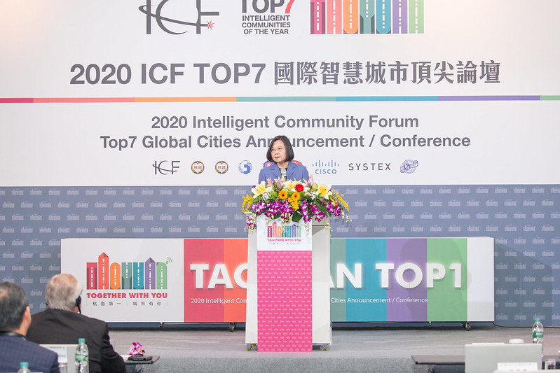 President Tsai attends the 2020 ICF Top7 Global Cities Announcement/Conference and fields questions from the media Photos - New Southbound Policy