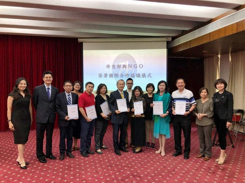 MOFA signs international cooperation and development assistance agreements with five Taiwan NGOs Photos - New Southbound Policy