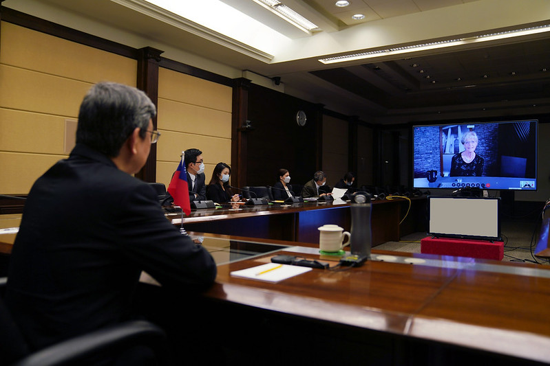 Vice President Chen takes part in videoconference with Johns Hopkins Bloomberg School of Public Health Photos - New Southbound Policy