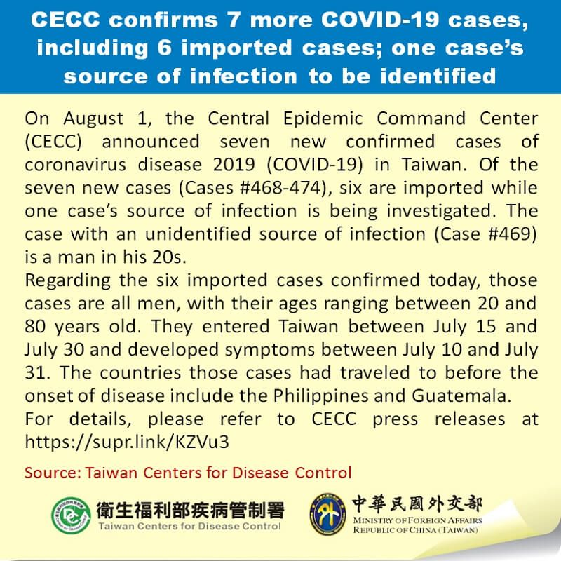 CECC confirms 7 more COVID-19 cases, including 6 imported cases; one case's source of infection to be identified Photos - New Southbound Policy