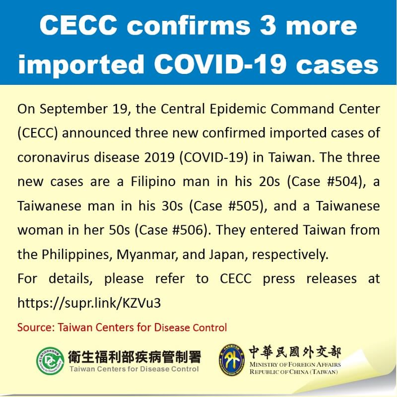CECC confirms 3 more imported COVID-19 cases Photos - New Southbound Policy